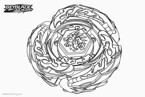 Beyblades Coloring Page