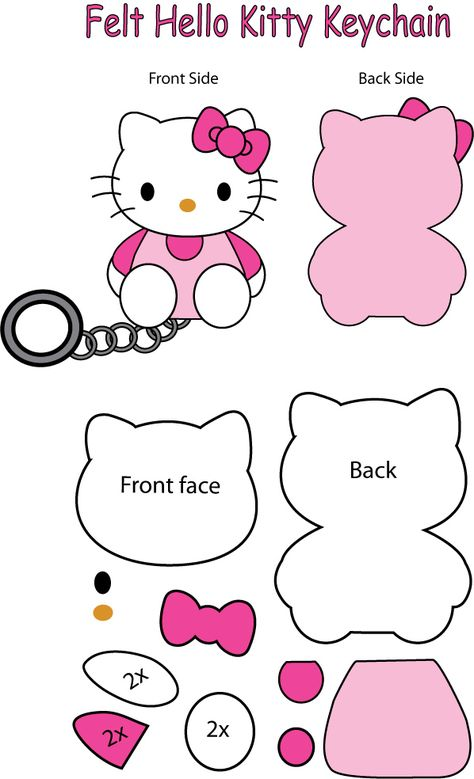 Hello Kitty felt Keychain by ~Mokulen22 on deviantART