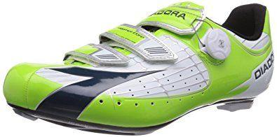 Diadora Men S Vortex Comp Road Cycling Shoe 160847 Lime Green