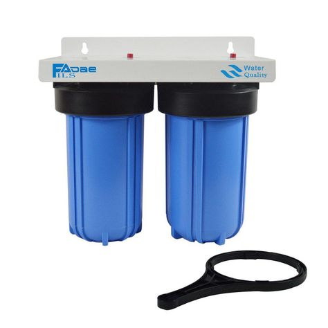 2 Stage Whole House Water Filtration System With 4 1 2 X10 Sediment And Carbon Block Filters 1 Brass Port Easy Installation Water Filtration System Activated Carbon Filter Water Filtration