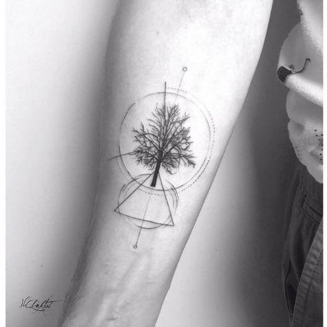 Tree,geometric,fineline