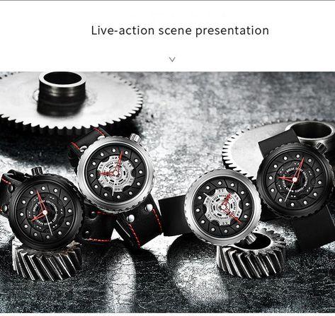 Luxurious Brand Sports Quartz Watch Black Silicone Strap Men Military Watches Tire Shape Waterproof Unique Design Wristwatch Stereoscopic Diamond Watches Best Wristwatches From Vipswei, $22.36| Dhgate.Com