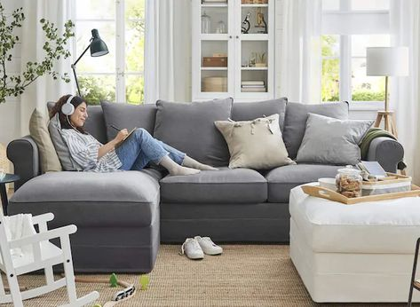 Comfy Sectional, Ikea Sectional, Ikea Couch, Chaise Sofa, Sleeper Couch, Comfy Couches, Modern Sleeper Sofa, Corner Sectional Sofa, Sectional Sofa With Chaise