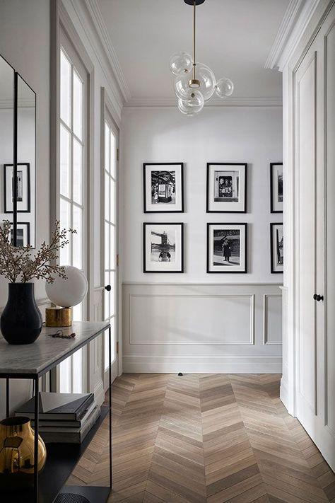 House Design, Interior Inspiration, Home And Living, Interior, Parisian Interior, Home Decor, House Interior, Hall Decor, Apartment Interior