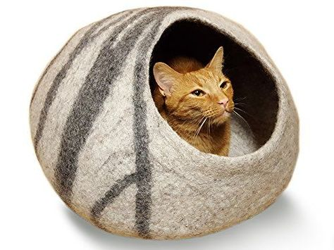Small Cozy Bed For Cat Cave Bed Cat Floor Round Pillow Hooded Cat