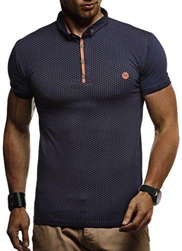 LEIF NELSON Herren Männer Polo T Shirt Kurzarmshirt