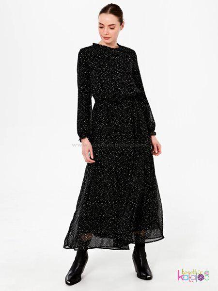 Desenli Viskon Elbise 2020 Elbise Uzun Elbise The Dress