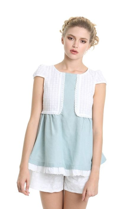 BLUSA ANTEA / Mima't Boutique Manresa Tienda de ropa bonita para una mujer femenina, romántica, moderna y divertida.