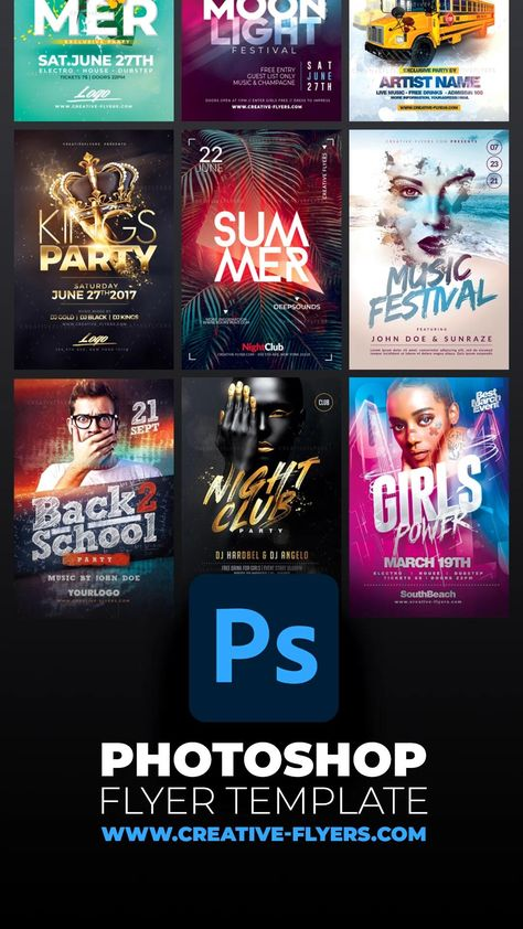 Download Awesome Photoshop Flyer Templates