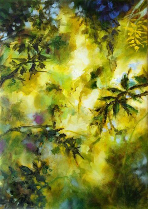 Peinture Huile Moderne Abstrait Nature Toile Sous Bois Grand