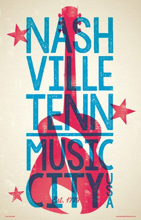 Nashville Poster Nashville Wall Art Nashville Print Etsy Letterpress Poster Nashville Poster Concert Poster Design