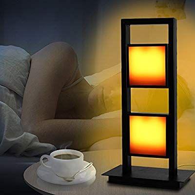 Eterbiz Led Flame Effect Table Lamp Decorative Flickering Light Lamps Flame Night Light Home Decor Desk Lamp Atmosphere Lightin Lamp Table Lamp Yellow Lamp