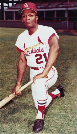 CURT FLOOD:  OUTFIELDER WITH ST LOUIS CARDINALS