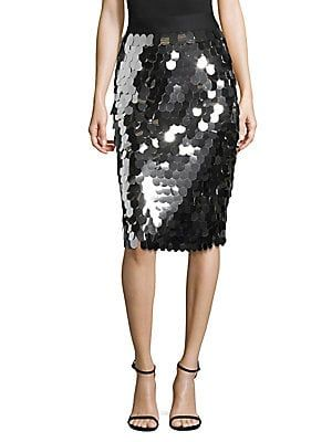Paillette Midi Blackgunmetal Milly Sequin SkirtHoliday Classic OXZiwTPku