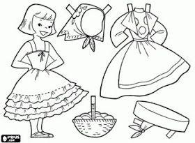 Juegos Y Juguetes De La Abuela Munecos De Papel Con Trajes Tipicos Del Mundo Paginas Para Colorear Dibujos De Juegos Sobres De Papel
