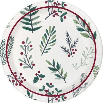 12ct Conservatory 8 Paper Plates Wondershop Target Paper Plates Target Christmas Decor Plates