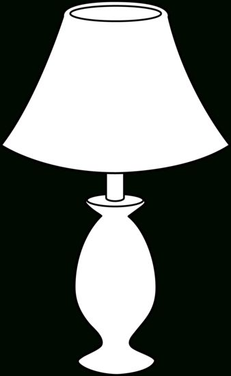 Black And White Lamp Line Art Free Clip Art Intended For Floor Lamp Clipart Black And White 34303 Black And White Furniture Lamp Clipart Black And White