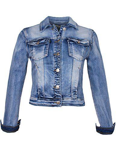 the best attitude 4015e d3bf8 Fraternel Damen Jacke Jeansjacke Denim Jacket talliert Blau ...