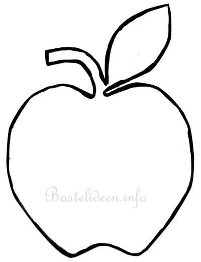 Bildergebnis Fur Apfel Fensterbild Vorlage Apple Template Coloring Pages For Kids Coloring Pages