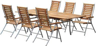 Bellasole Gartenmobelset Kopenhagen 7 Tlg 6 Sessel Tisch