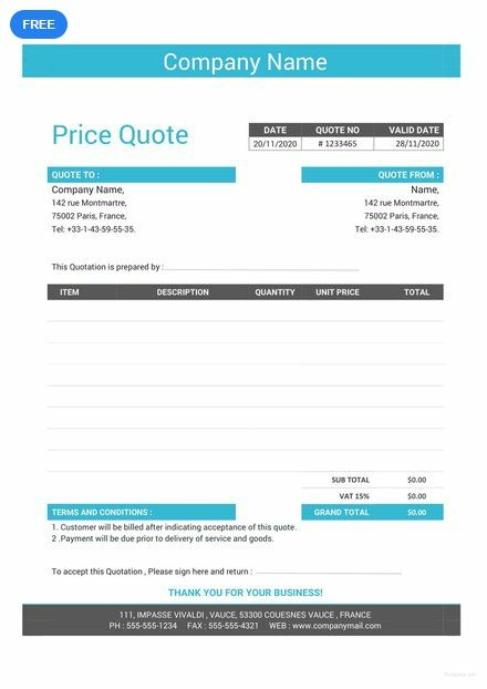 Free Business Quotation Format Quotation Format
