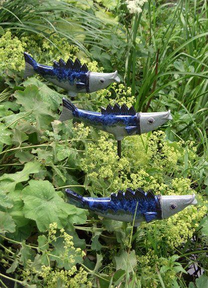 Ceramic fish for the garden - by Margit Hohenberger - Ceramic
