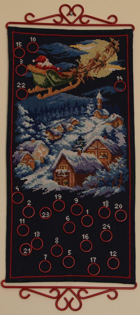Cross stitch Advent calendar