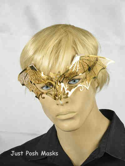 Black Velvet Covered Metal Mask Venetian Masquerade Inpiu Flock