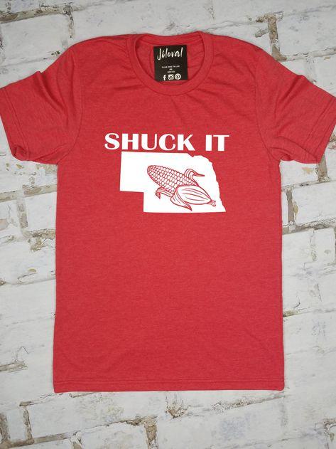 nebraska t shirt funny vintage big deal humor cornhuskers state mens new red tee