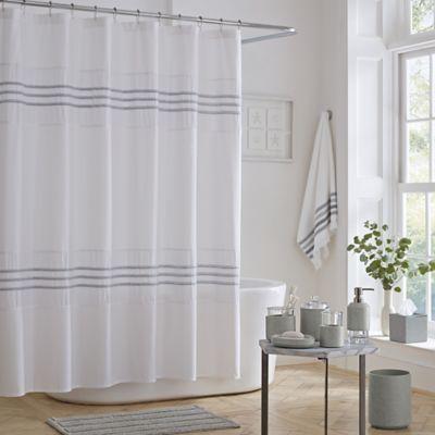 J Queen New York Lulu Shower Curtain In Grey Gray Shower