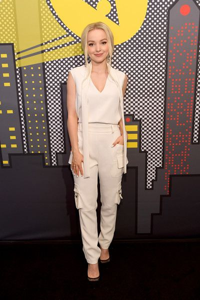 """Actor Dove Cameron of the show """"Marvel Rising"""" attends the Pizza Hut Lounge at 2018 Comic-Con International: San Diego at Andaz San Diego on July 19, 2018 in San Diego, California."""