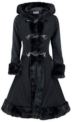 Poizen Industries Minx Coat Fleece Mantel schwarz Grösse L