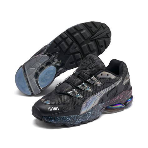 Men's PUMA Cell Alien Space Explorer Trainers in Black size ...