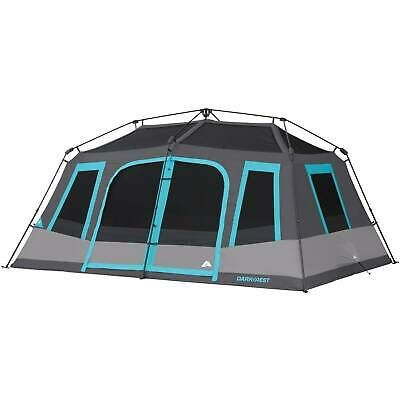 10 Person Instant Cabin Tent Dark Rest Blackout Windows Outdoor Camping New 817427015216 Ebay In 2020 Cabin Tent Tent 10 Person Tent