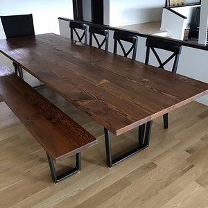 Belmont Reclaimed Douglas Fir Dining Table Stumptown Reclaimed Custom Tables Portland Or Dining Table Custom Table Outdoor Dining Table