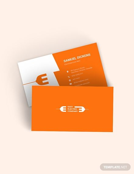 Modern Electrician Business Card Template Word Doc Psd Apple Mac Pages Illustrator Publisher Business Card Template Word Business Cards Online Printing Business Cards