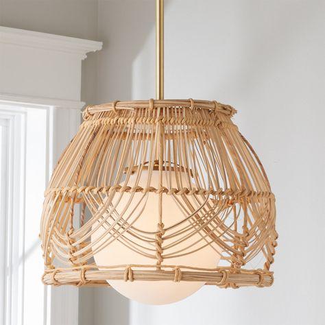 Wicker Pendant Light, Kitchen Pendant Lighting, Kitchen Pendants, Diy Pendant Light, Glass Pendants, Rattan Light Fixture, Diy Light, Pendant Lamps, Ceiling Light Fixtures
