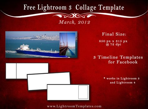 Free Facebook Timeline Templates  Download  Lightroom