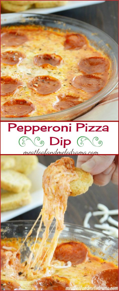 Pepperoni Pizza Dip -- This recipe is super easy and makes a great snack or game day appetizer!
