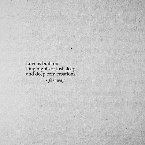 faraway (@farawaypoetry) on Instagram: So much lost sleep. Follow @farawaypoe
