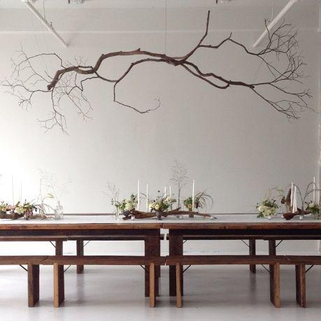 25 Amazing DIY Branches Chandeliers Branch chandelier - schwarz weiß wohnzimmer