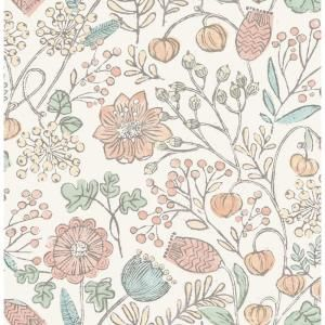 Nuwallpaper Pastel Southern Trail Pinks Vinyl Strippable Roll Covers 30 75 Sq Ft Nus3623 The Home Depot Peel And Stick Wallpaper Nuwallpaper Modern Floral Wallpaper
