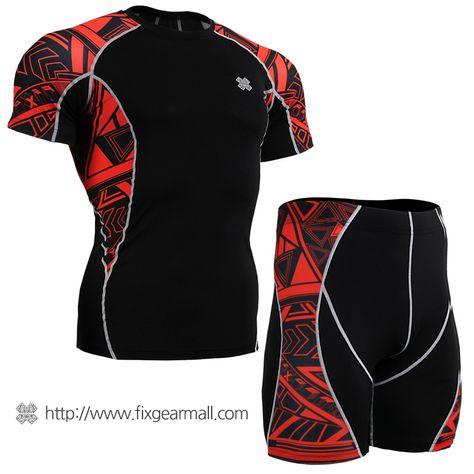 FIXGEAR C2L-B42 Compression Long Sleeve Shirt for Workout MMA Sportswear Gym