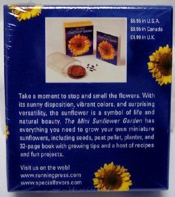 The Mini Sunflower Garden Mini Book Kit Book Garden Kit Mini Sunflower Book In 2020 Mini Sunflowers Sunflower Garden Sunflower