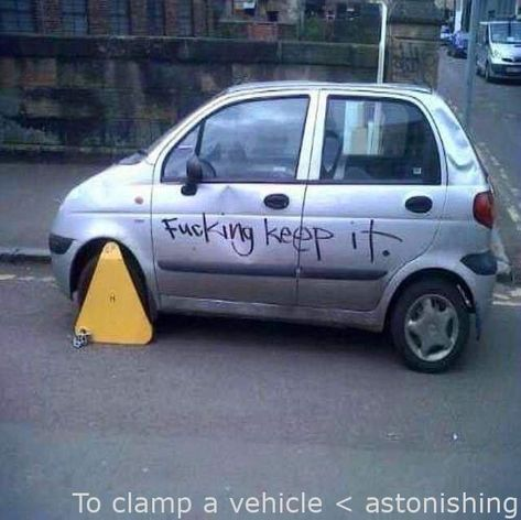 #Fails  - To clamp a car – radical #fail hilarious , #fail pictures , #funny fails nailed it , #nailed it fails funny , #sign fails funny