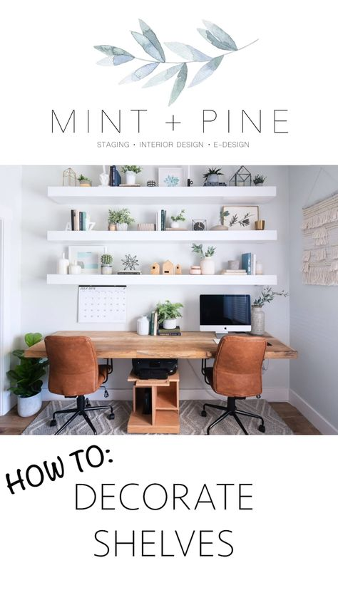 We put together an easy to follow guide for styling and decorating your shelves.