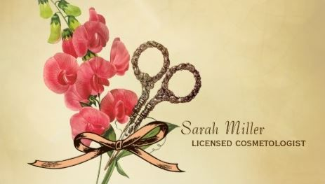 213 best business cards for women images on pinterest carte de vintage hair scissors girly sweet pea hair salon business cards 2995 reheart Image collections