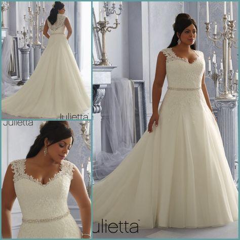 Best Selling A line Plus Size Wedding Dress 2014 Vestido de noiva Beaded Belt  Lace Applique Romantic Sexy Crost Bridal Gown $268.00