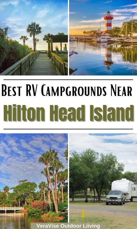Hilton Head South Carolina is a great destination for camping. Best known for sandy beaches, and lush green golf courses, Hilton Head really has something for everyone. Warm weather also makes this a popular destination for frozen northerners seeking escape from the cold. If you are looking for RV campgrounds near Hilton Head Island, there are some great choices on the island and nearby communities.
