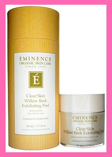 Amazon Com Eminence Clear Skin Willow Bark Exfoliating Peel 1 7 Ounce Skincare 30s Innis Exfoliating Peel Eminence Organic Skin Care Skin Care 30s